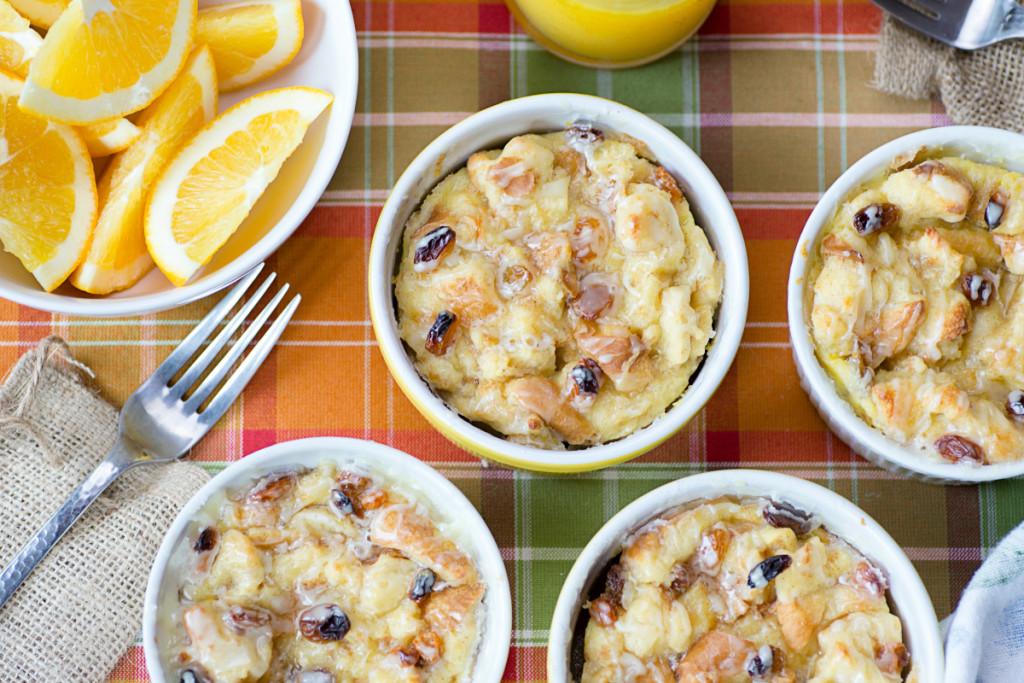 orange glazed bread pudding | recipes for winter