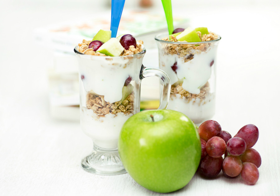 Grape, Apple, Yogurt Parfait | Recipes for Summer