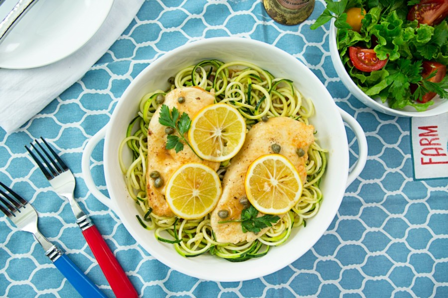 Chicken Piccata with Zoodles   Recipes for Spring