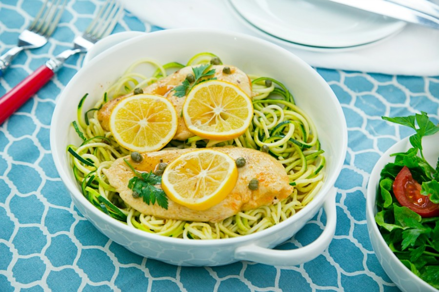 Chicken Piccata with Zoodles | Lemon Benefits