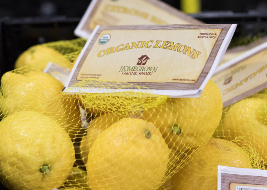 Lemon Mesh Bag