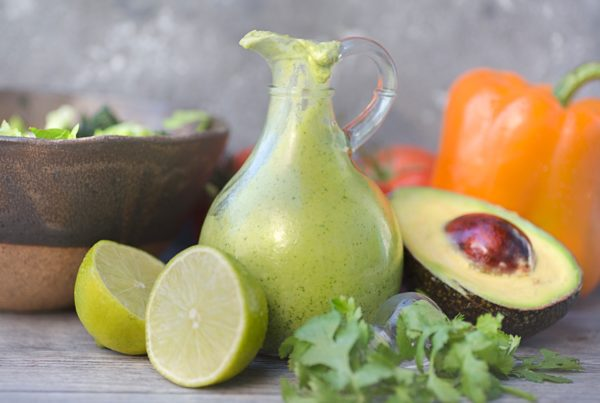 Dairy Free, Vegan Avocado Lime Dressing