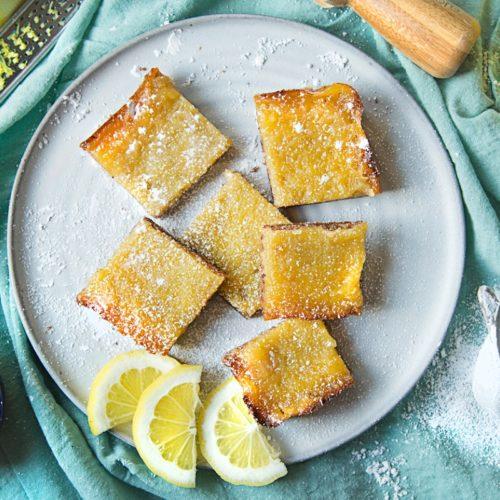 gluten-free lemon date bars